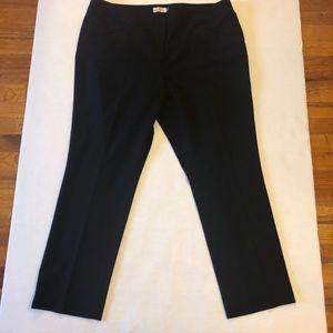 Tahari Black Dress Work Straight Leg Pants 18